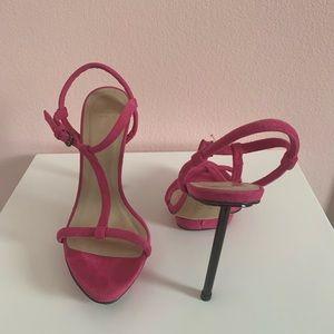 Zara Pink Suede Stiletto Heels LIKE NEW